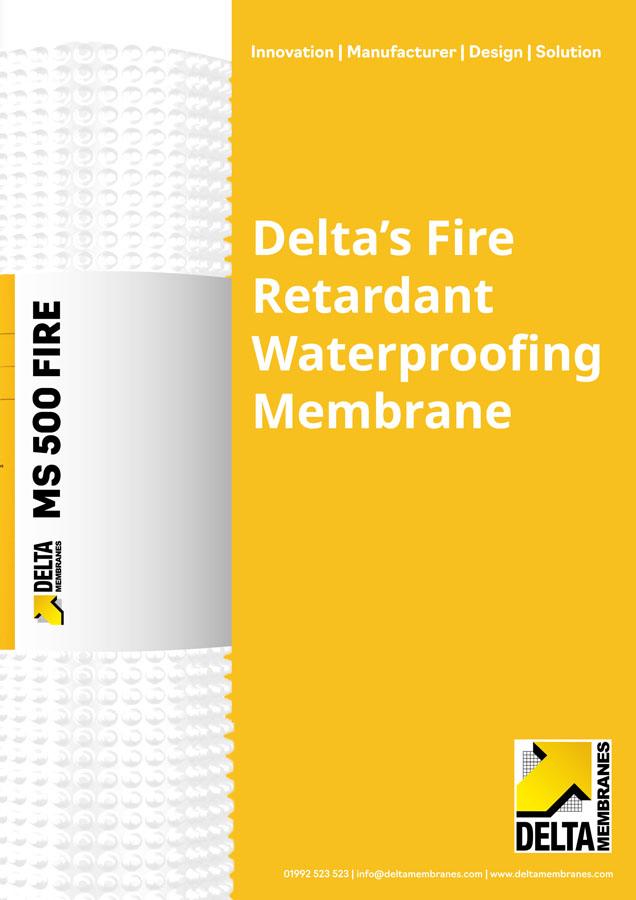 Delta's Fire Retardant Waterproofing Membrane Brochure