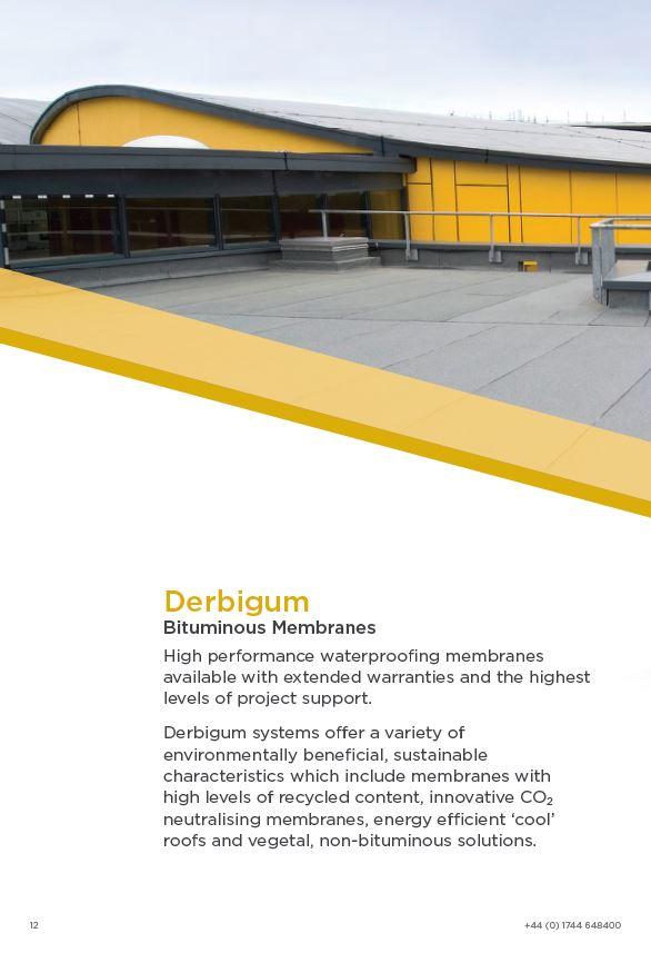 Derbigum Bituminous Membranes Brochure 2015 Brochure