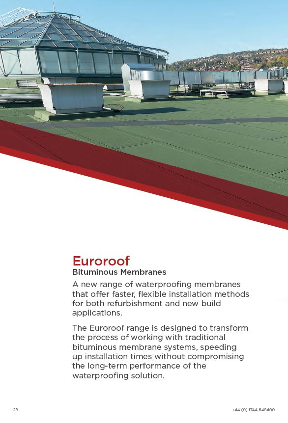 Euroroof Bituminous Membranes Brochure 2015 Brochure