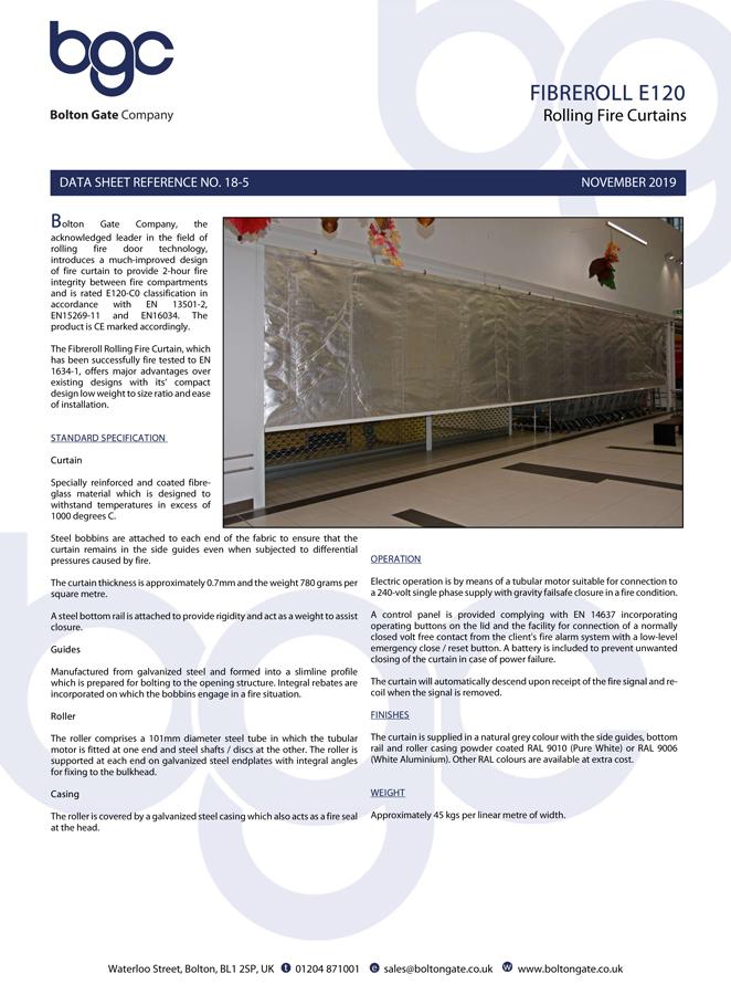 Fibreroll E120 Brochure