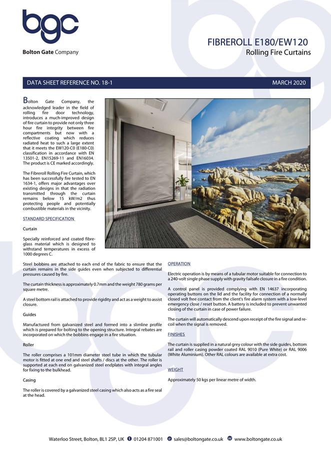 Fibreroll E180/EW120 Brochure