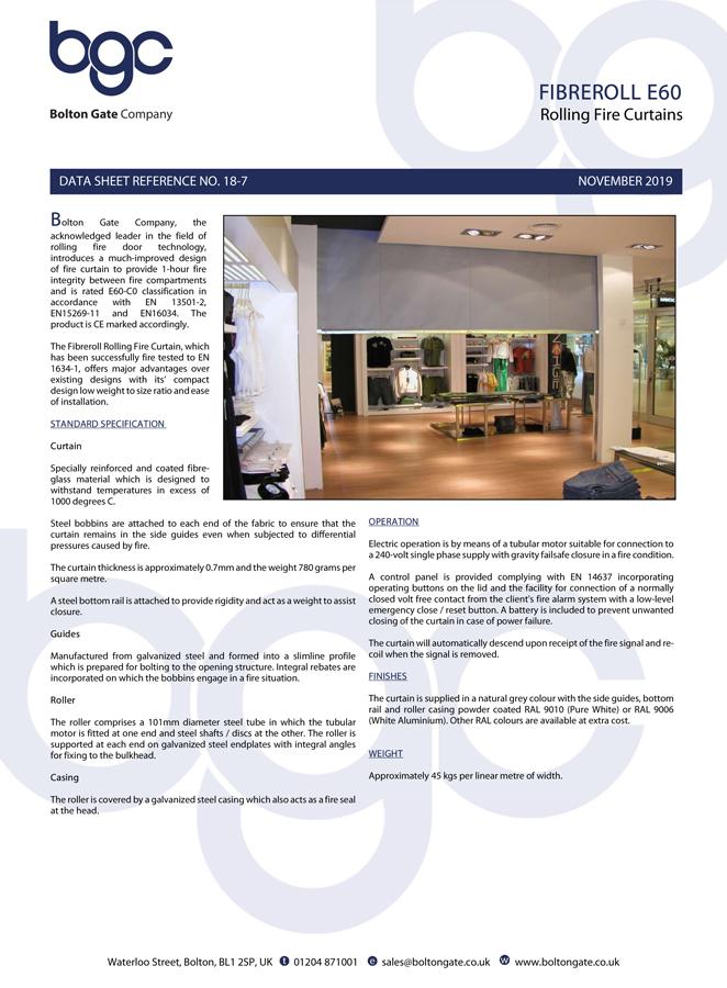 Fibreroll E60 Brochure