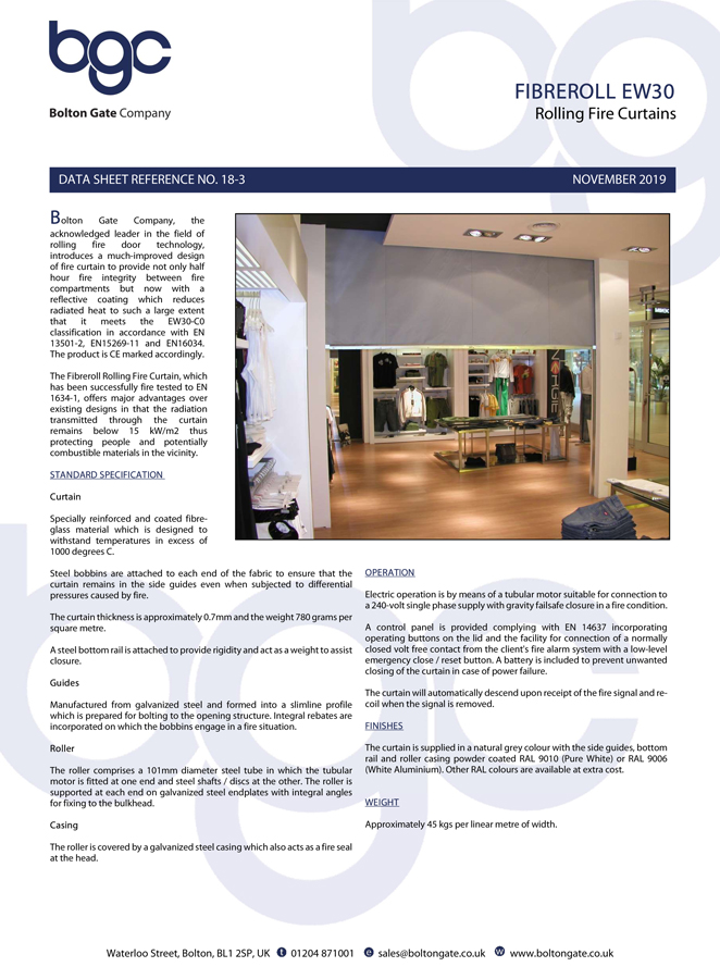Fibreroll EW30 Brochure