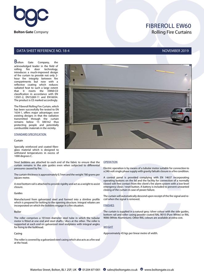 Fibreroll EW60 Brochure