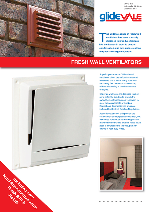 Glidevale Fresh Wall Ventilators Brochure