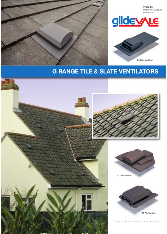 G Range Tile & Slate Ventilators - Roofspace ventilation  Brochure