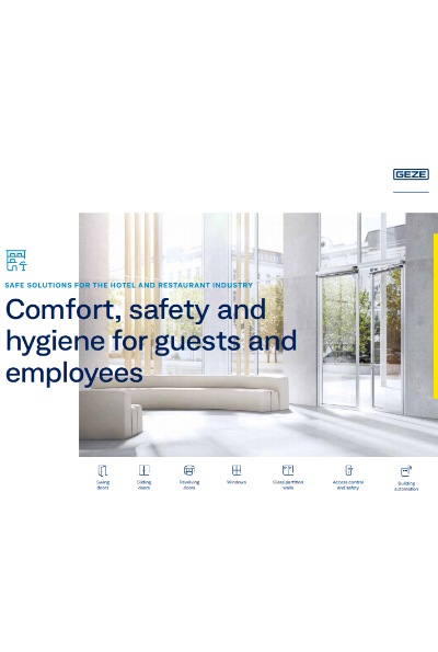 Comfort, safety and hygiene for guests and employees Brochure