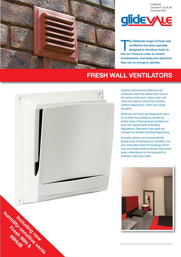 Fresh Wall Ventilators Brochure