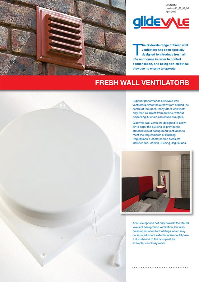 Glidevale Fresh Wall Ventilators Brochure