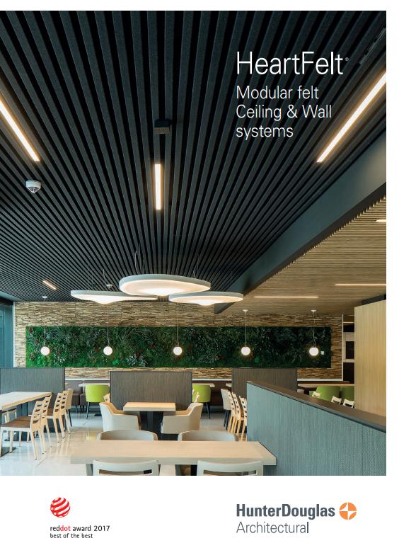 HeartFelt® Modular felt Ceiling & Wall System Brochure