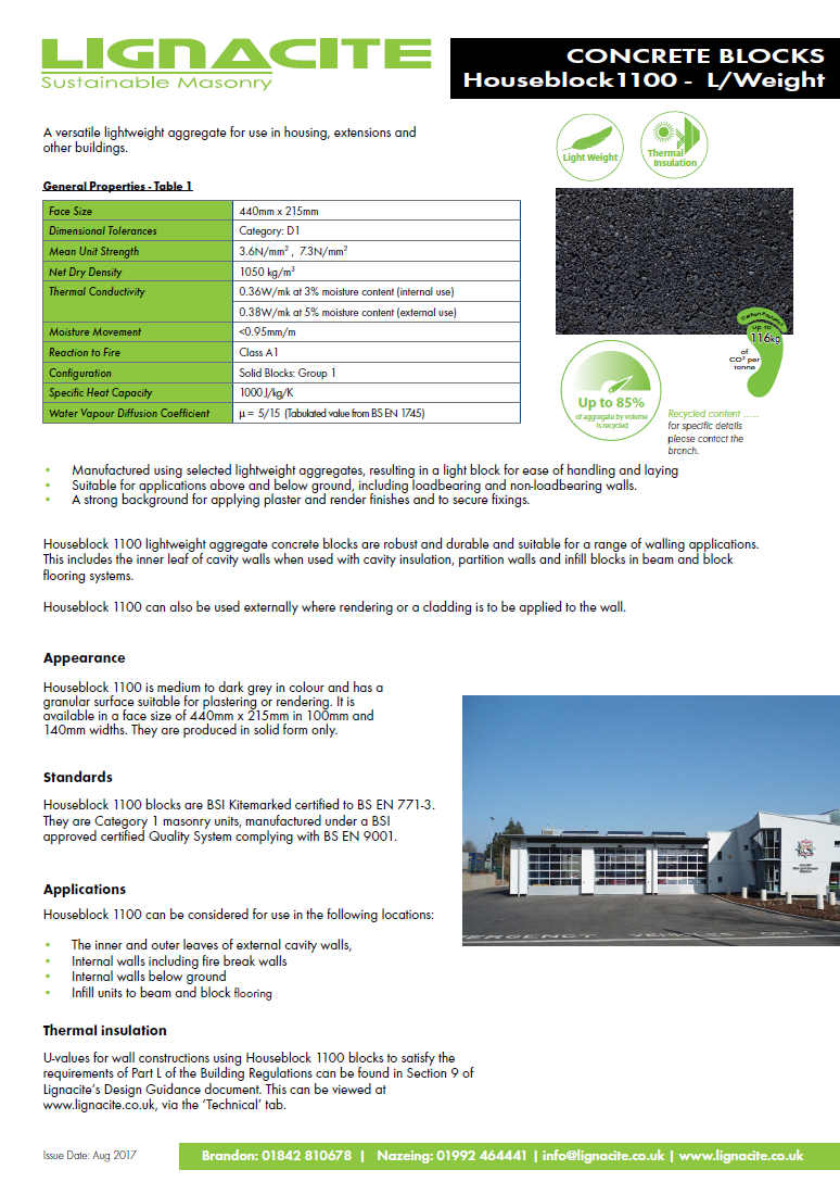 Housblock 1100 Brochure
