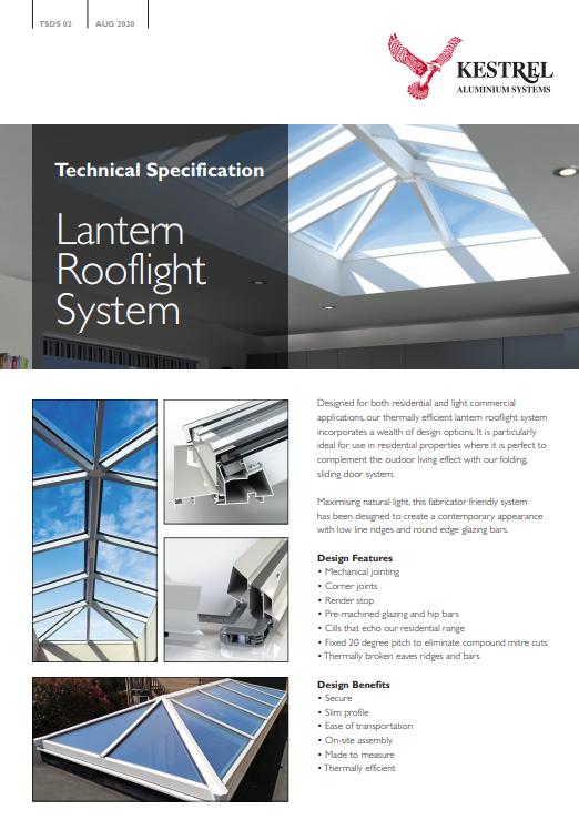 Lantern Rooflight System Datasheet Brochure