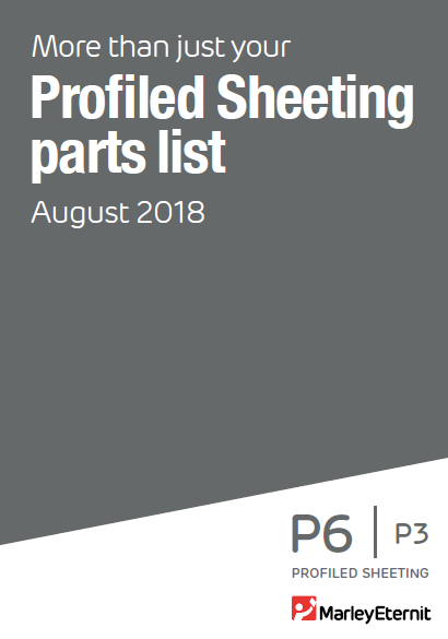 Profiled Sheeting Parts List August 2018 Brochure