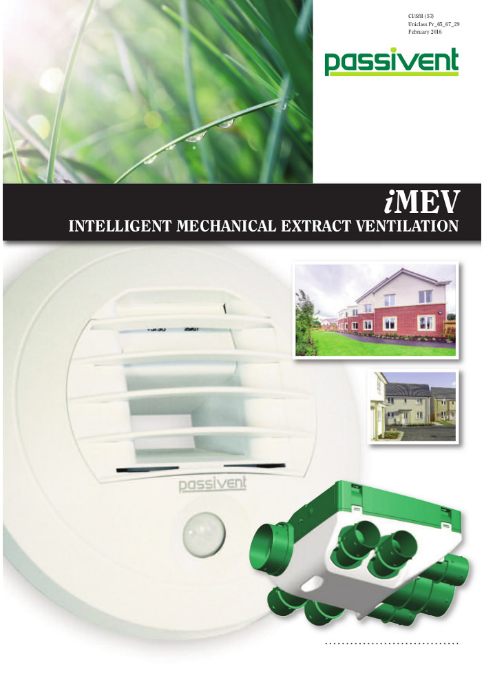 iMEV Intelligent Mechanical Extract Ventilation    Brochure