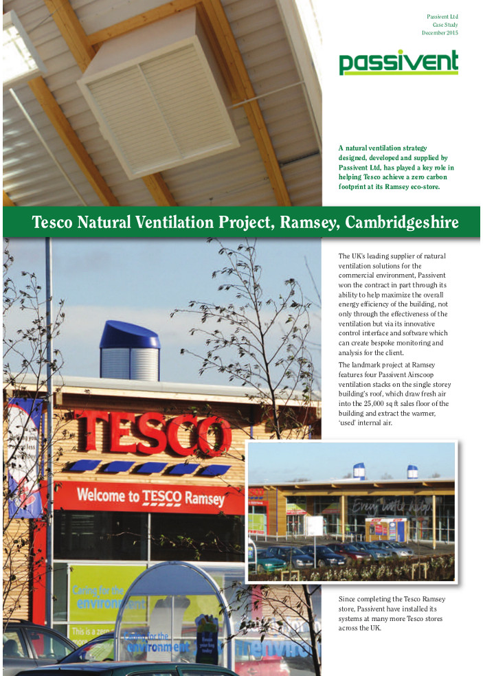 Tesco Natural Ventilation Project, Ramsey, Cambridgeshire Brochure