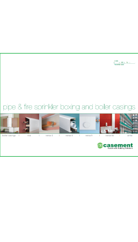 Pipe & fire sprinkler boxing and boiler casings Brochure