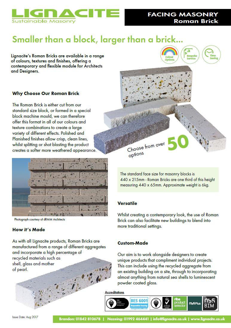 Roman Brick Brochure
