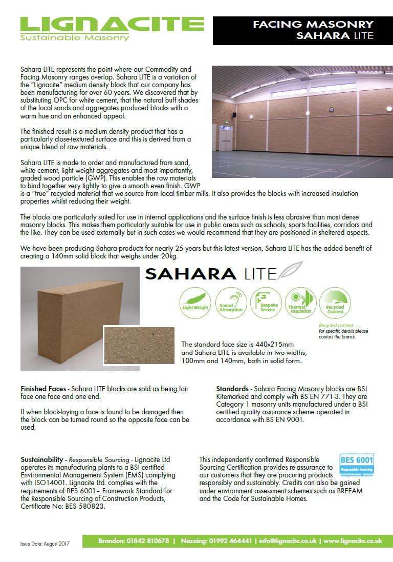 Sahara LITE Brochure