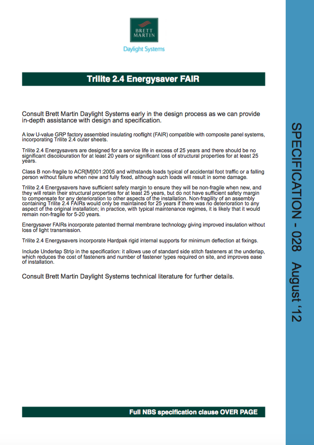 Trilite 2.4 Energysaver FAIR Brochure