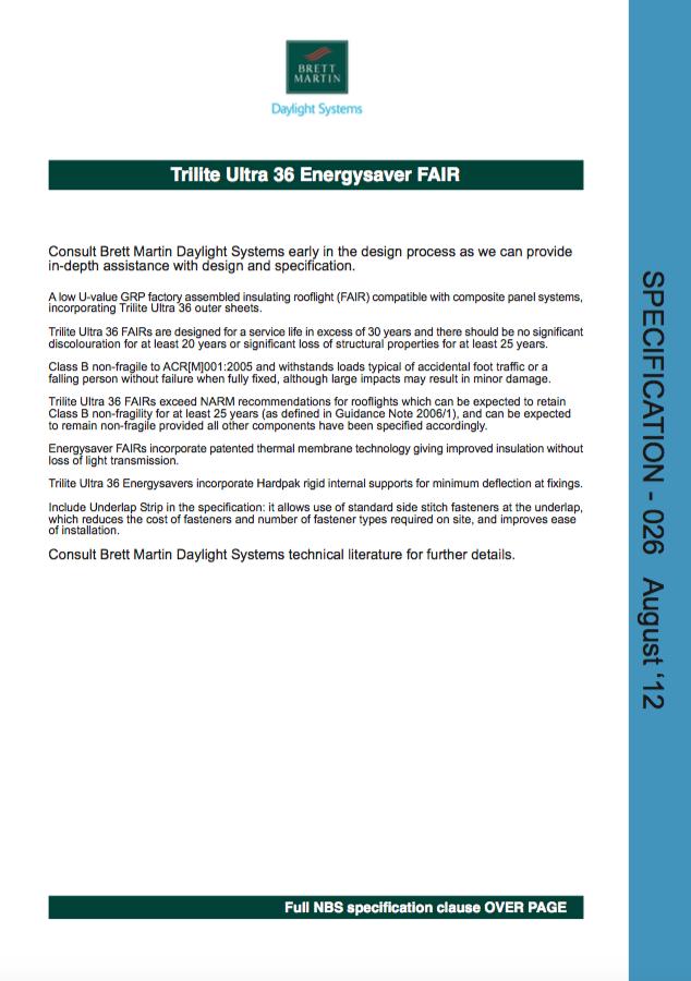 Trilite Ultra 36 Energysaver FAIR  Brochure