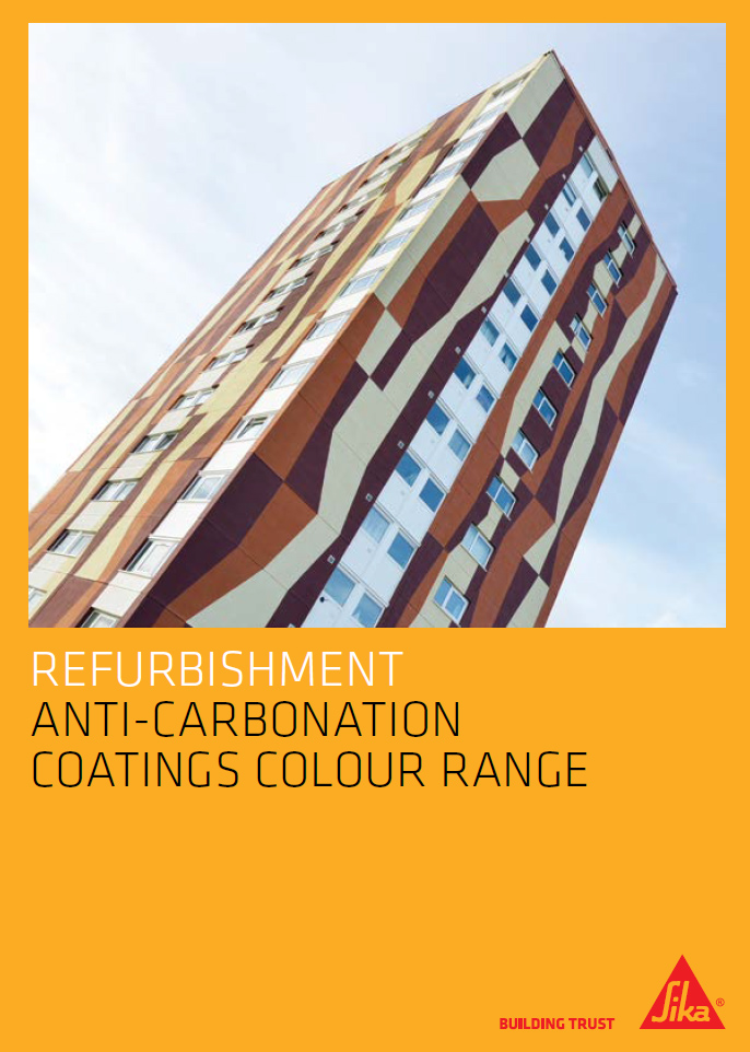 Refurbishment anti-carbonation coatings colour range Brochure