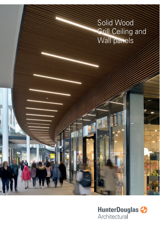 Solid Wood Grill Ceiling and Wall panels Brochure