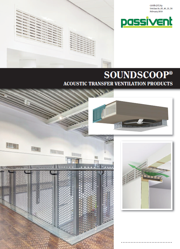 Soundscoop Acoustic Transfer Ventilation Products    Brochure