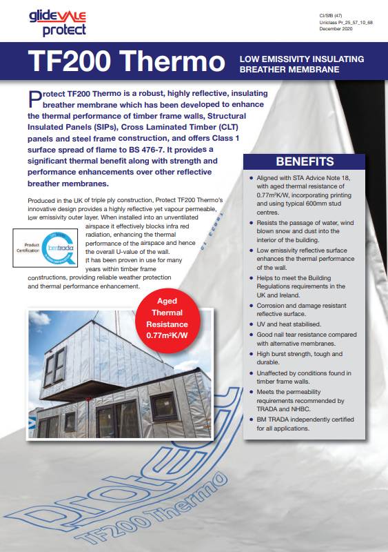 Protect TF200 Thermo leaflet Brochure