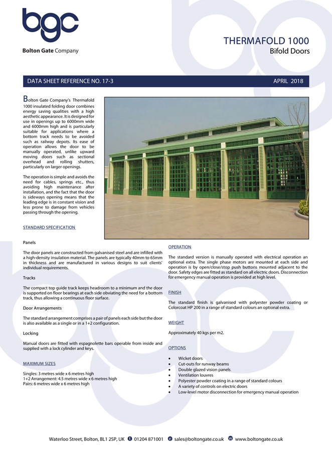 Thermafold 1000 Brochure