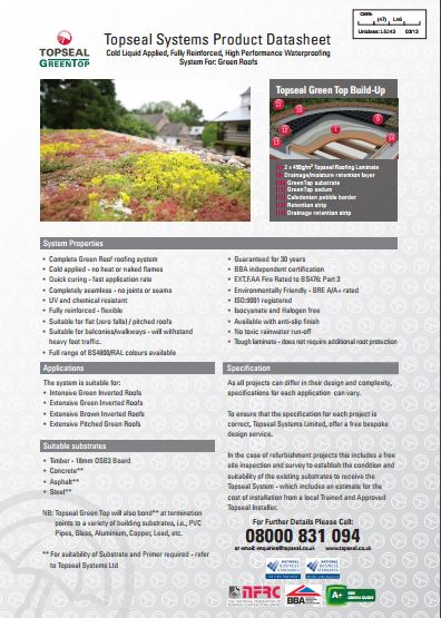 Topseal GreenTop Brochure