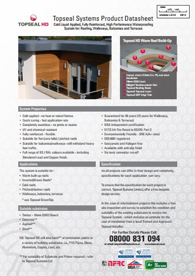 Topseal HD Brochure