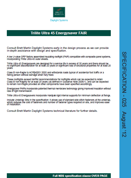 Trilite Ultra 45 Energysaver FAIR Brochure
