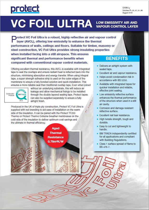VC Foil Ultra leaflet Brochure