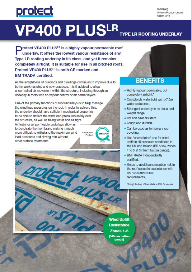 Protect Membranes VP400 PLUS Brochure
