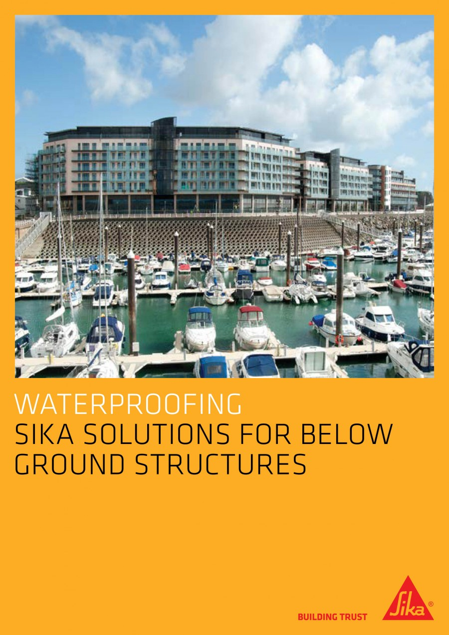 Sika Solutions For Below Ground Structures Brochure