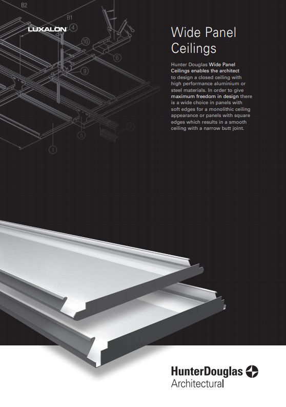 Wide Panel Ceilings Brochure