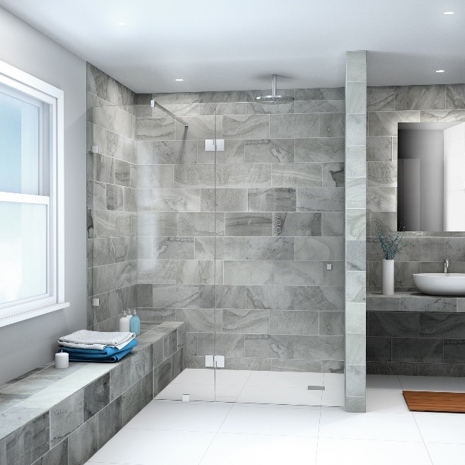 he range of frameless shower hardware available from CRL makes installing a shower possible in virtually any space.