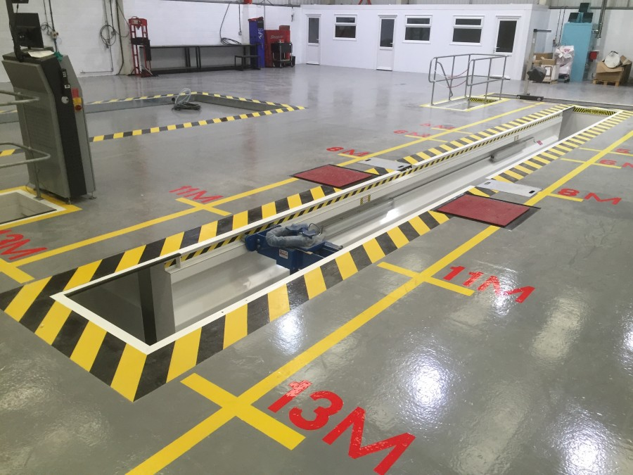 Sika provides a solid base for van and truck service centre