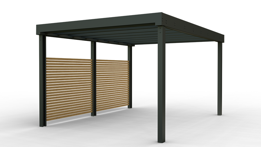 contemporary carports and shelters launch in the u k market specification online. Black Bedroom Furniture Sets. Home Design Ideas