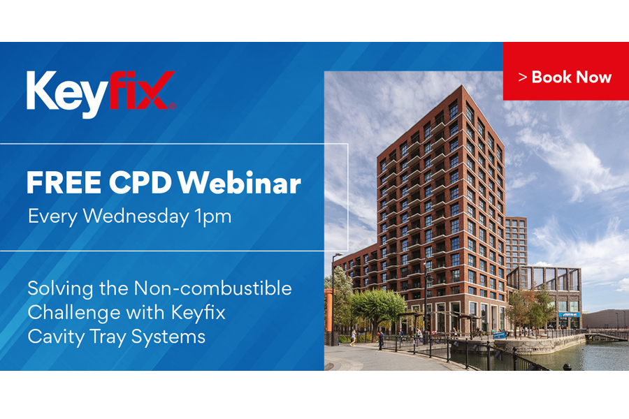 KEYFIX TO HOST WEEKLY WEBINARS ON NON-COMBUSTIBLE CAVITY TRAY SYSTEMS