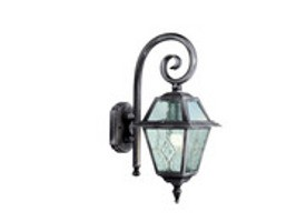 Black Wall Mounted Outdoor Lantern Light Fitting