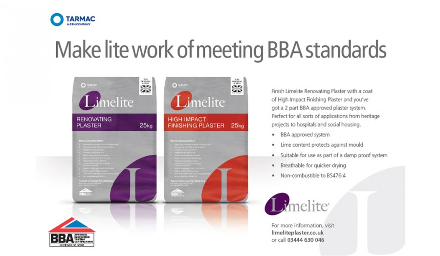 Limelite – The durable, breathable alternative to gypsum based plaster
