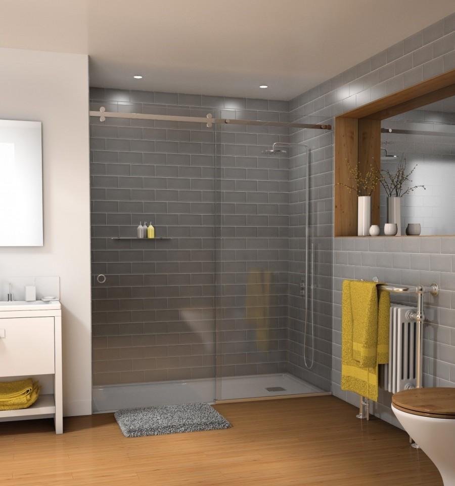 Sliding Shower Door System: Deluxe Serenity Series