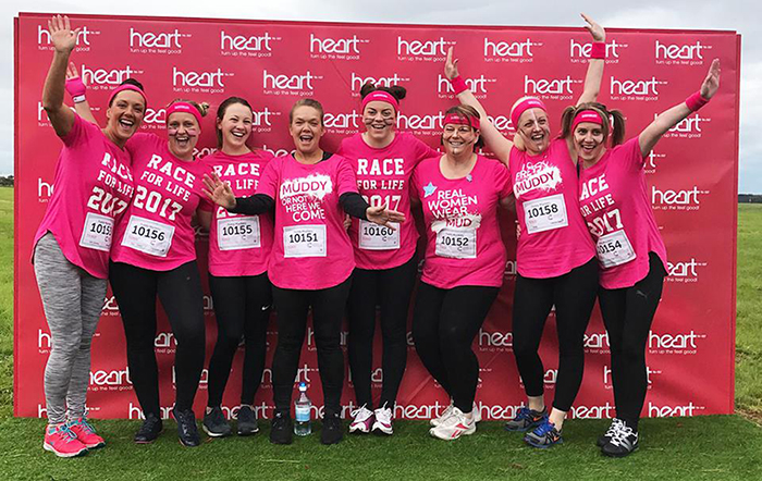 Multipanel: Pretty Muddy, Race for Life
