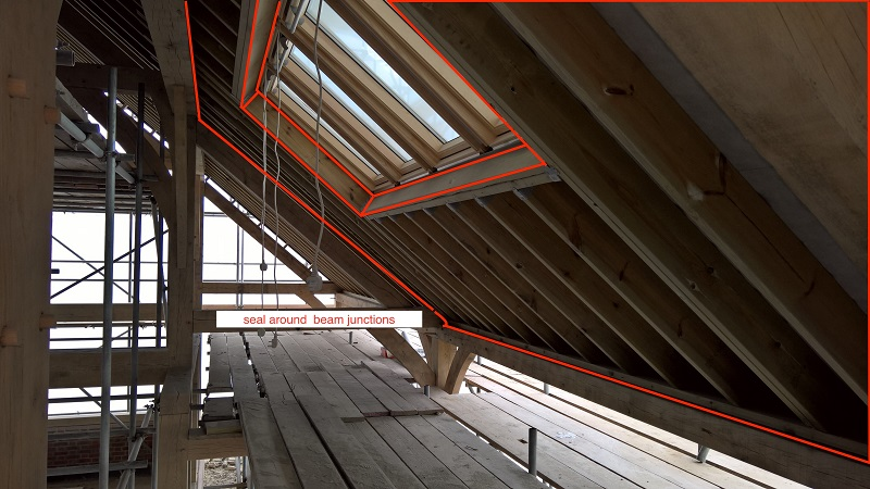 illbruck sealing products achieve astonishing airtightness for oak-framed building