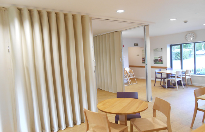 Ninesprings Cafe Create Flexible Space with a Folding Wall System!