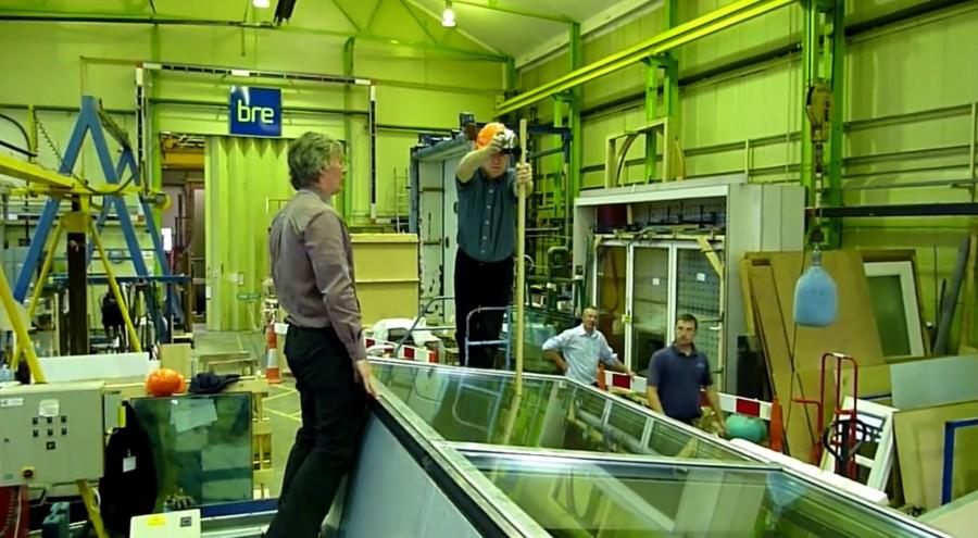 CWCT TN 67 Hard Body Impact Test on Roofglaze 7 Degree Mono Pitch Rooflight