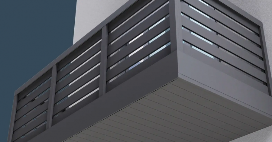 Introducing AliClad Flow balcony soffit cladding