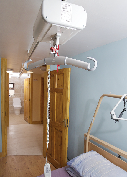 Hoist accessibility to increase bedroom usage