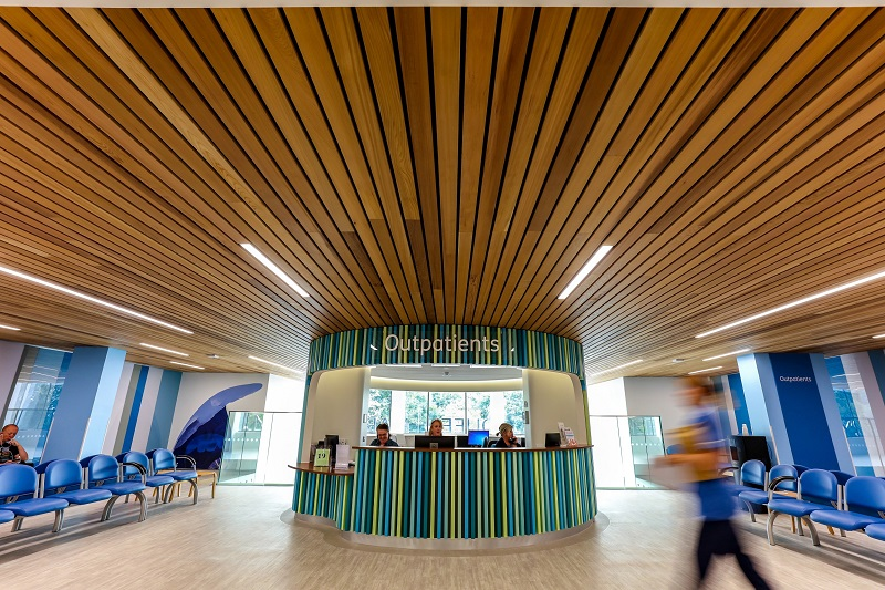 Hunter Douglas provides a welcoming entrance to hospital